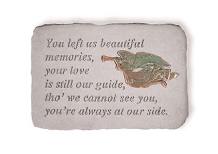 You Left Us Memories Angel Memorial Marker