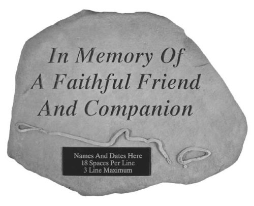 Faithful Friend Personalized Dog Memorial Stone