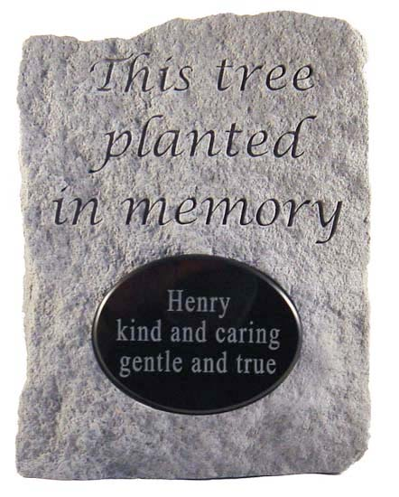 Tree Planting Personalized Memorial Marker