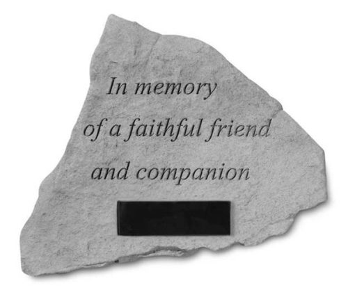 Faithful Friend Personalized Memorial Stone
