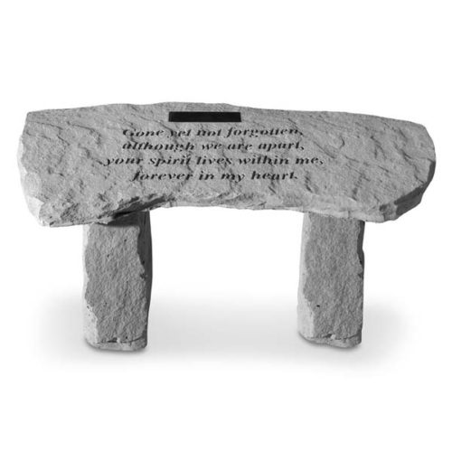 Gone Yet Not Forgotten Personalized Curved Bench