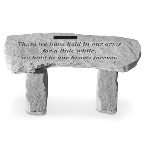 Those We Have Held Personalized Curved Bench