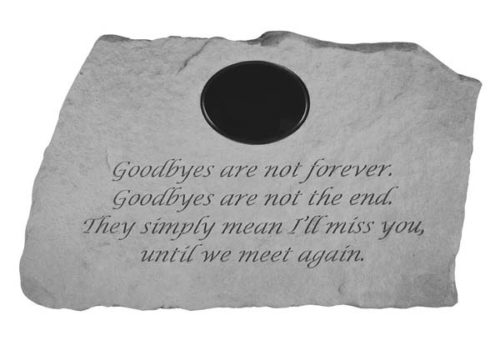 Goodbyes Are Not Forever Personalized Marker