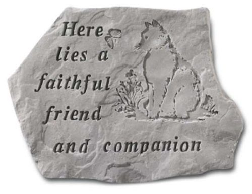 Faithful Friend Cat Memorial Marker