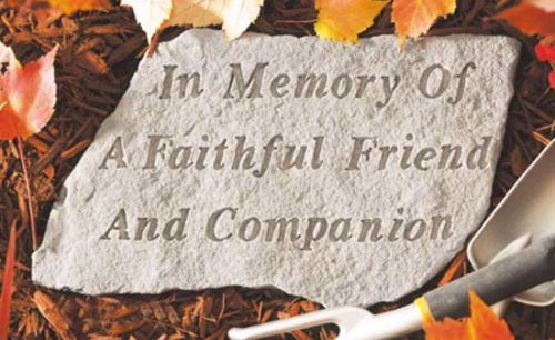 In Memory Of A Faithful Friend Memorial
