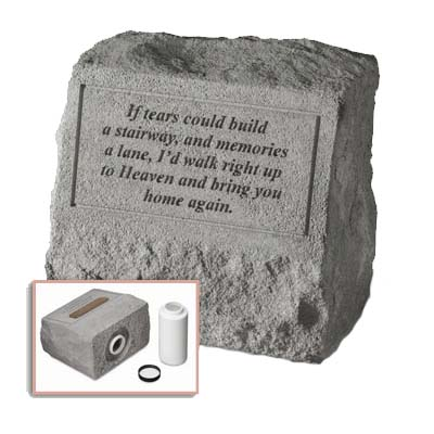 If Tears Could Build Graves Marker Urn